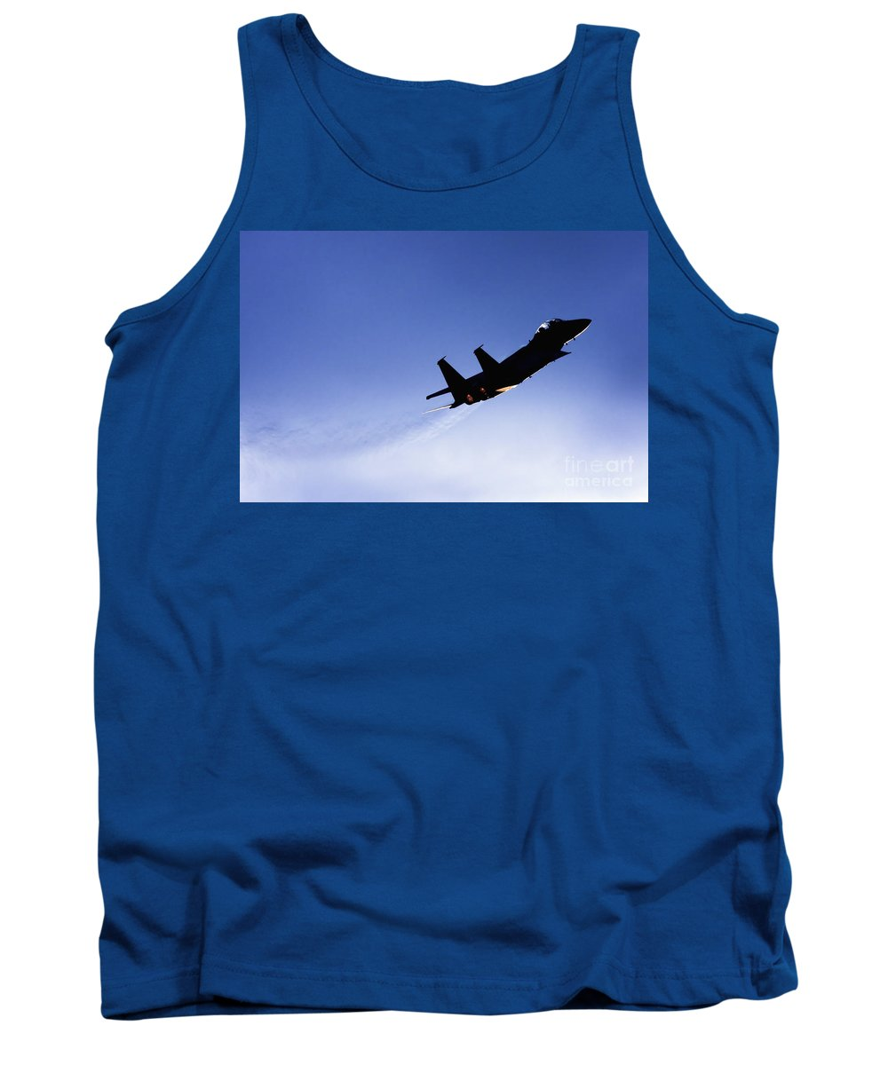 Aircraft Tank Top featuring the photograph Iaf F15i Fighter Jet by Nir Ben-Yosef