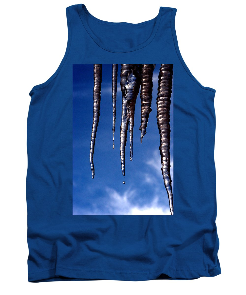 Ice Tank Top featuring the photograph Icicles by Greg Fortier