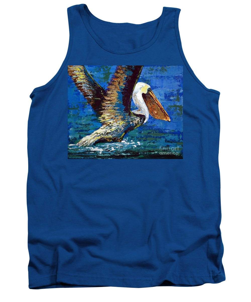 Acrylic Tank Top featuring the painting Im Outa Here by Suzanne McKee