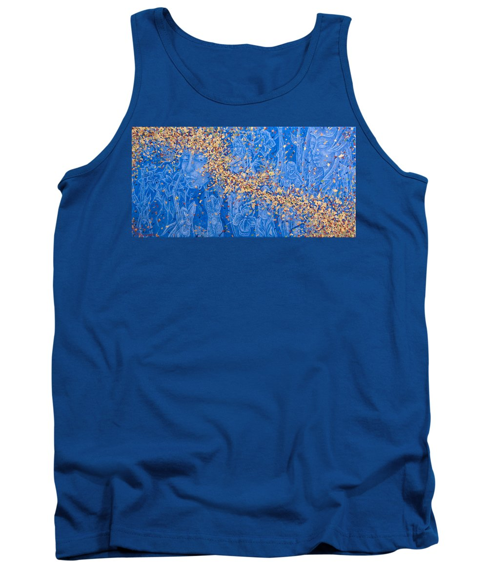 Waterfall Tank Top featuring the painting In The Falls by Judy Henninger