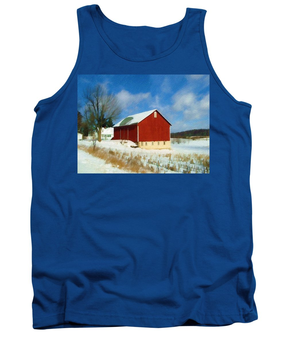 Landscape Tank Top featuring the photograph In the Throes of Winter by Sandy MacGowan