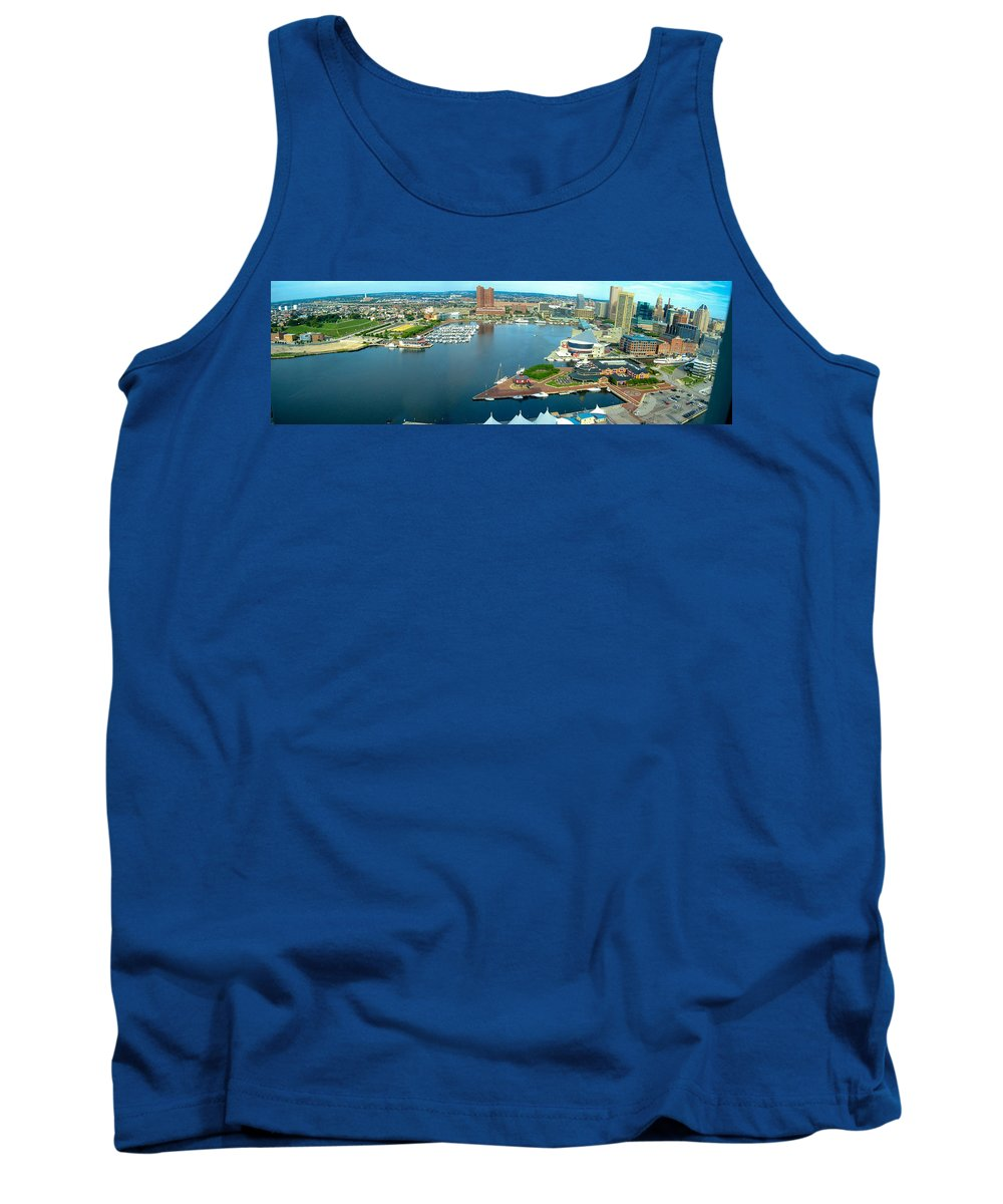Baltimore Tank Top featuring the photograph Inner Harbor Baltimore Panorama by Thomas Marchessault