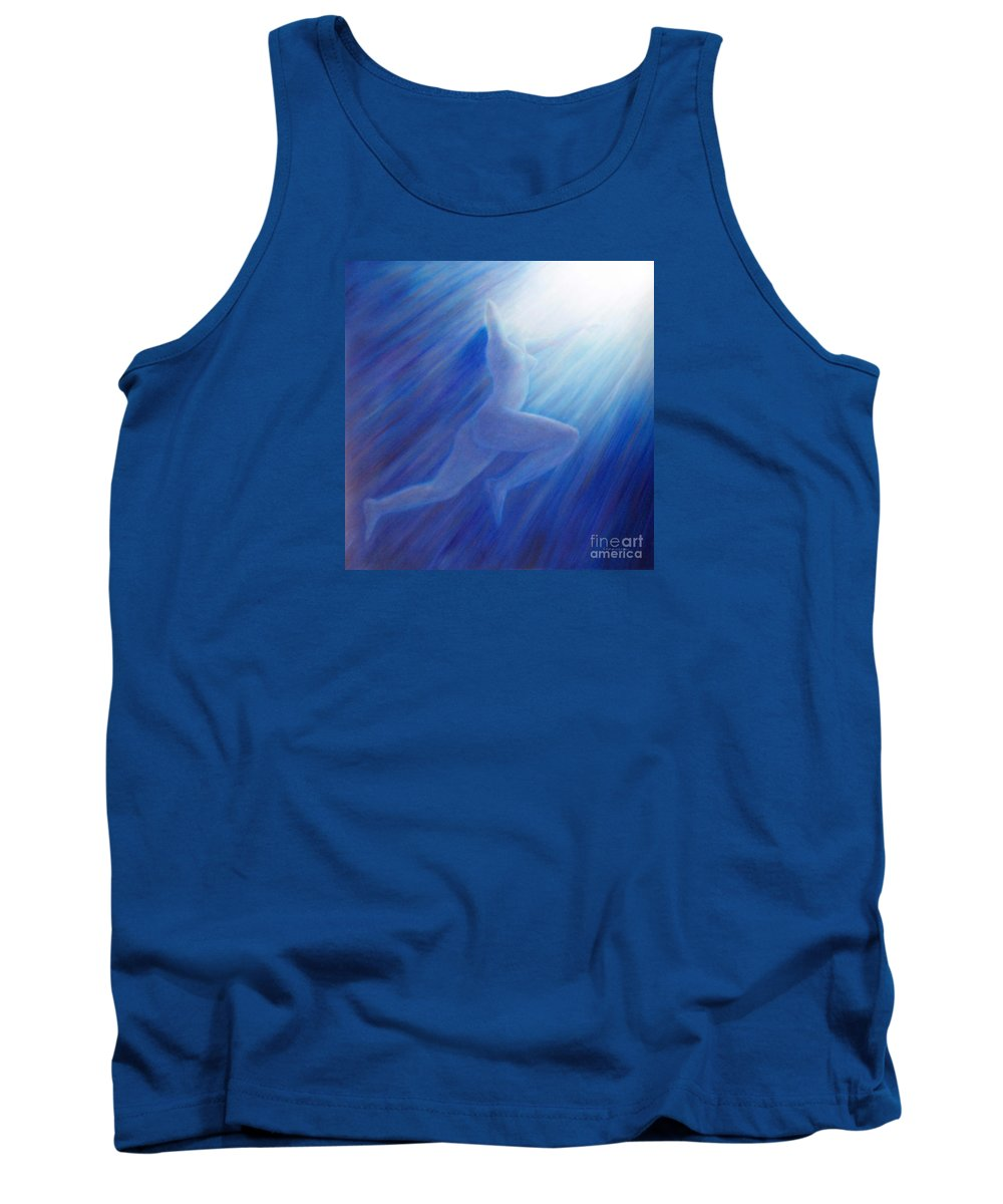 Spiritual Tank Top featuring the painting Into The Light by Brian Commerford