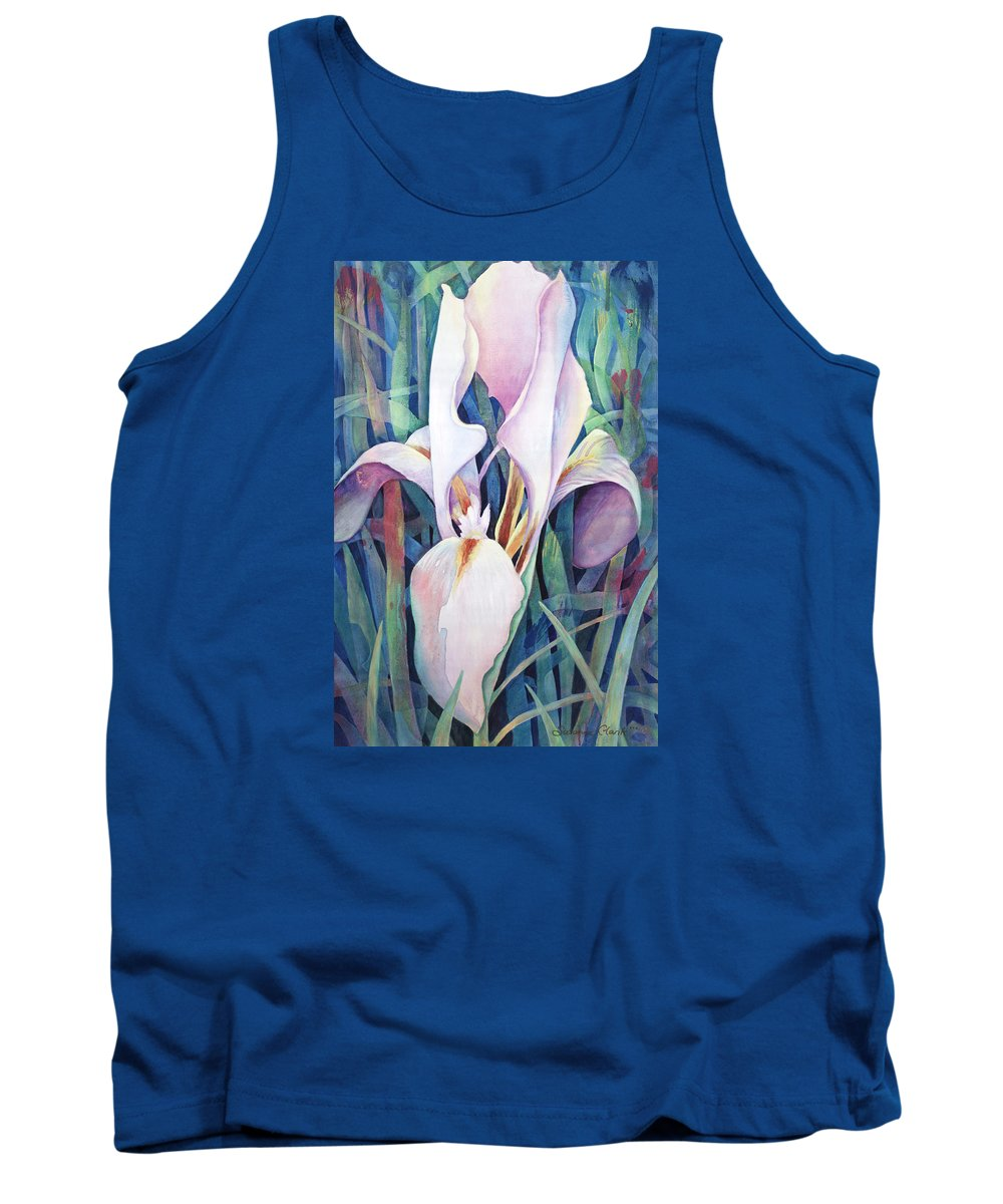 Fine Art America Flower Paintings Tank Top featuring the painting Iris by Susanne Clark