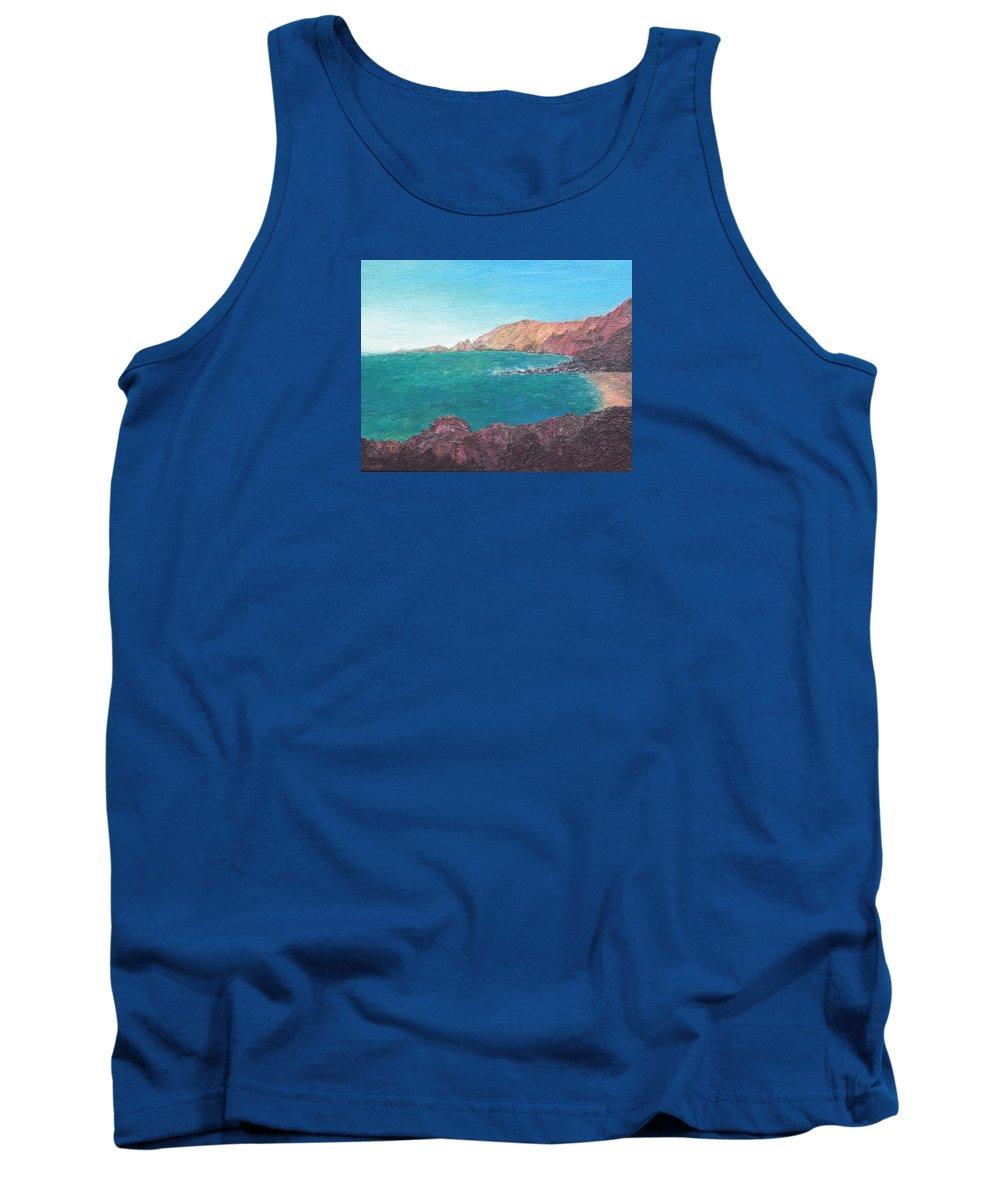 Island Tank Top featuring the painting Isla D' El Hierro by Ishwar Malleret