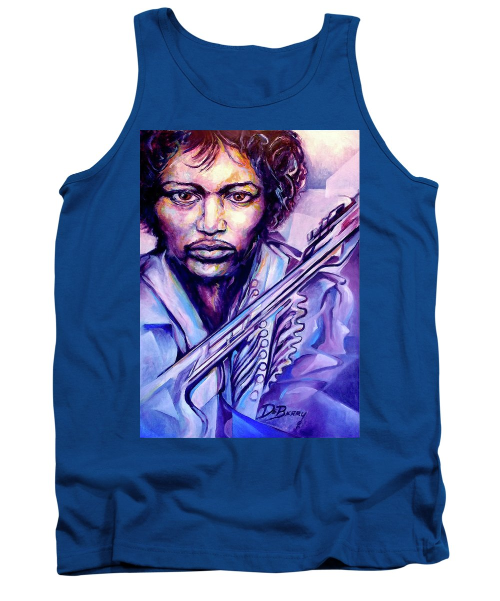 Tank Top featuring the painting Jimi by Lloyd DeBerry