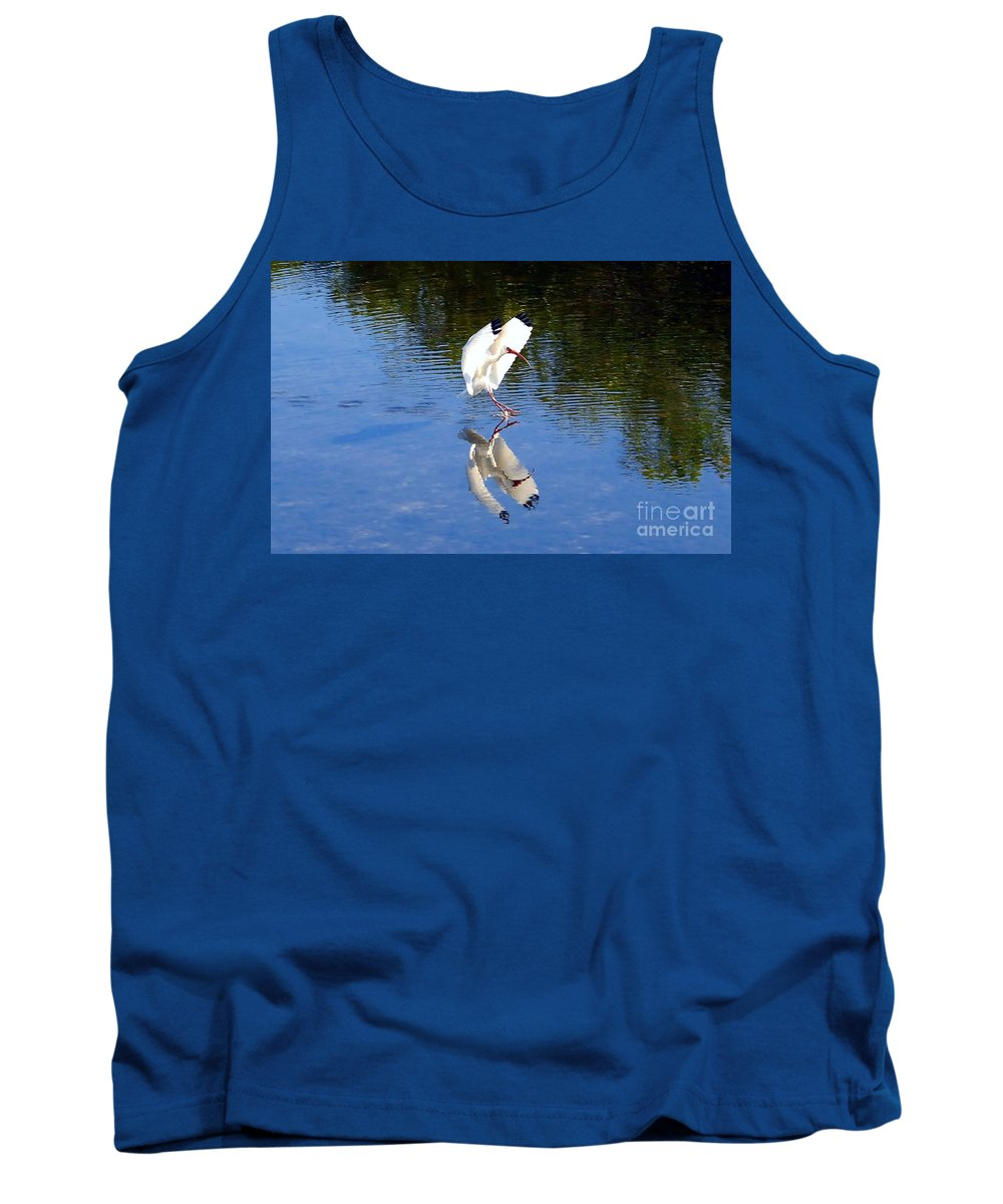 Landing Tank Top featuring the photograph Landing by David Lee Thompson