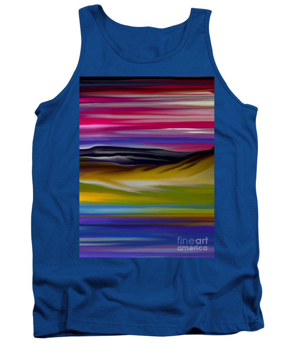 Digital Fantasy Painting Tank Top featuring the digital art Landscape 7-11-09 by David Lane