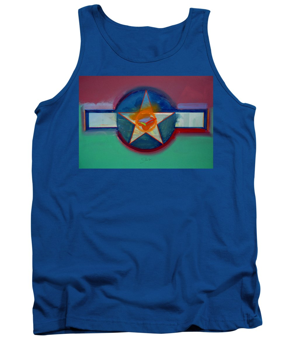 Star Tank Top featuring the painting Landscape In The Balance by Charles Stuart