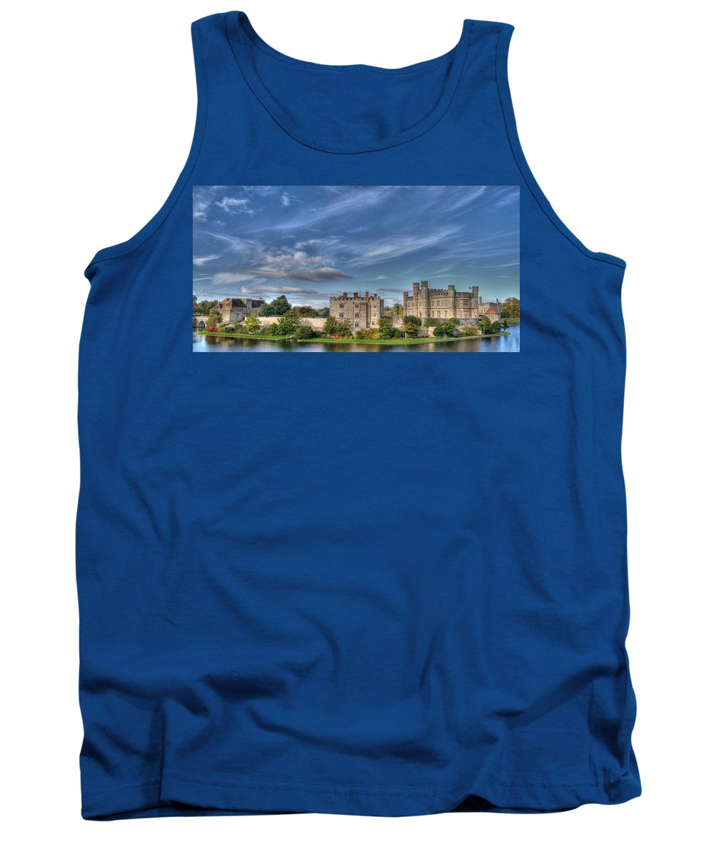 Leeds Castle Tank Top featuring the photograph Leeds Castle And Moat Rear View by Chris Thaxter