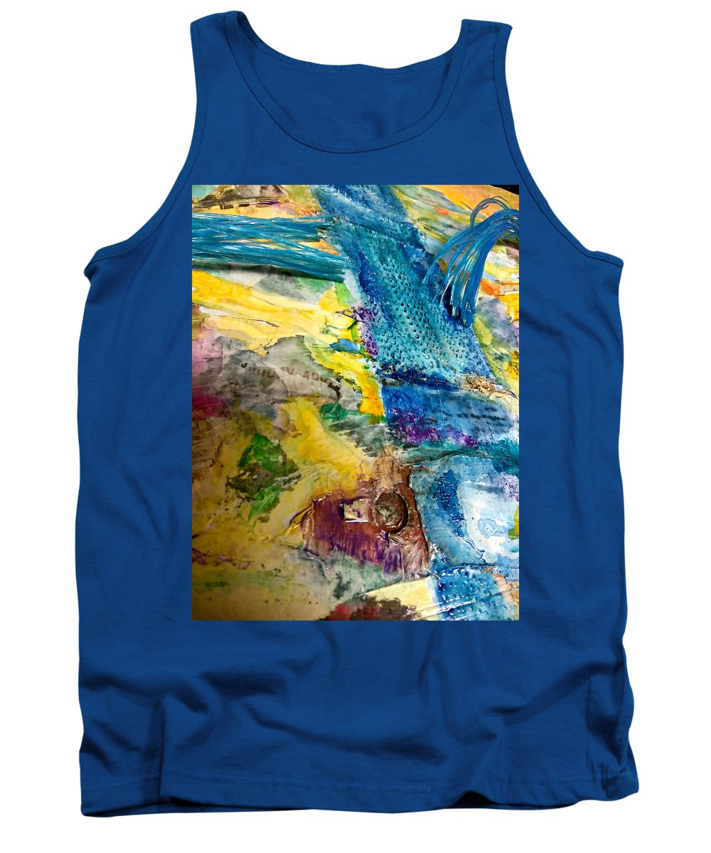 Watercolor Tank Top featuring the mixed media Letting Go by Jounda Strong