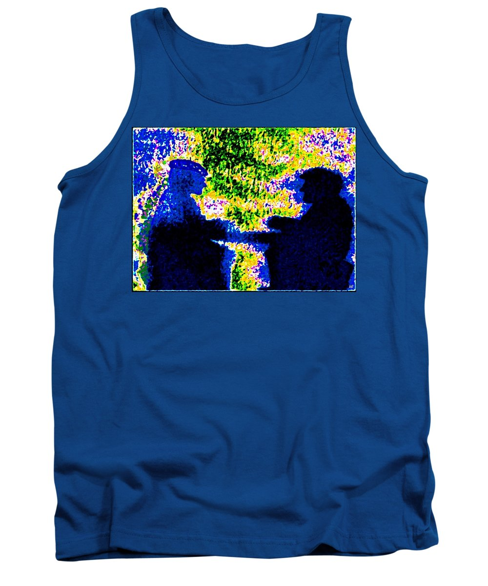 Abstract Tank Top featuring the digital art Lifelong Friends by Will Borden