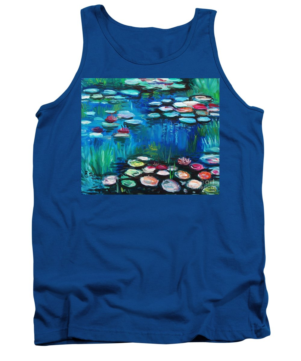 Water Lillies Tank Top featuring the painting Light Of The Lillies by Elizabeth Robinette Tyndall