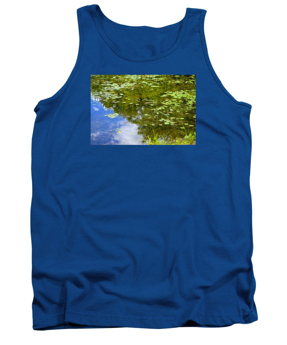 Lily Tank Top featuring the photograph Lily Pad Pond by Robert Skuja