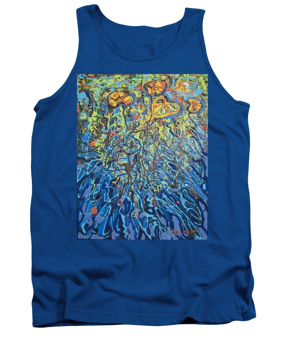 Lily Pads Paintings Tank Top featuring the painting Lily Pads Water Lily Paintings by Seon-Jeong Kim
