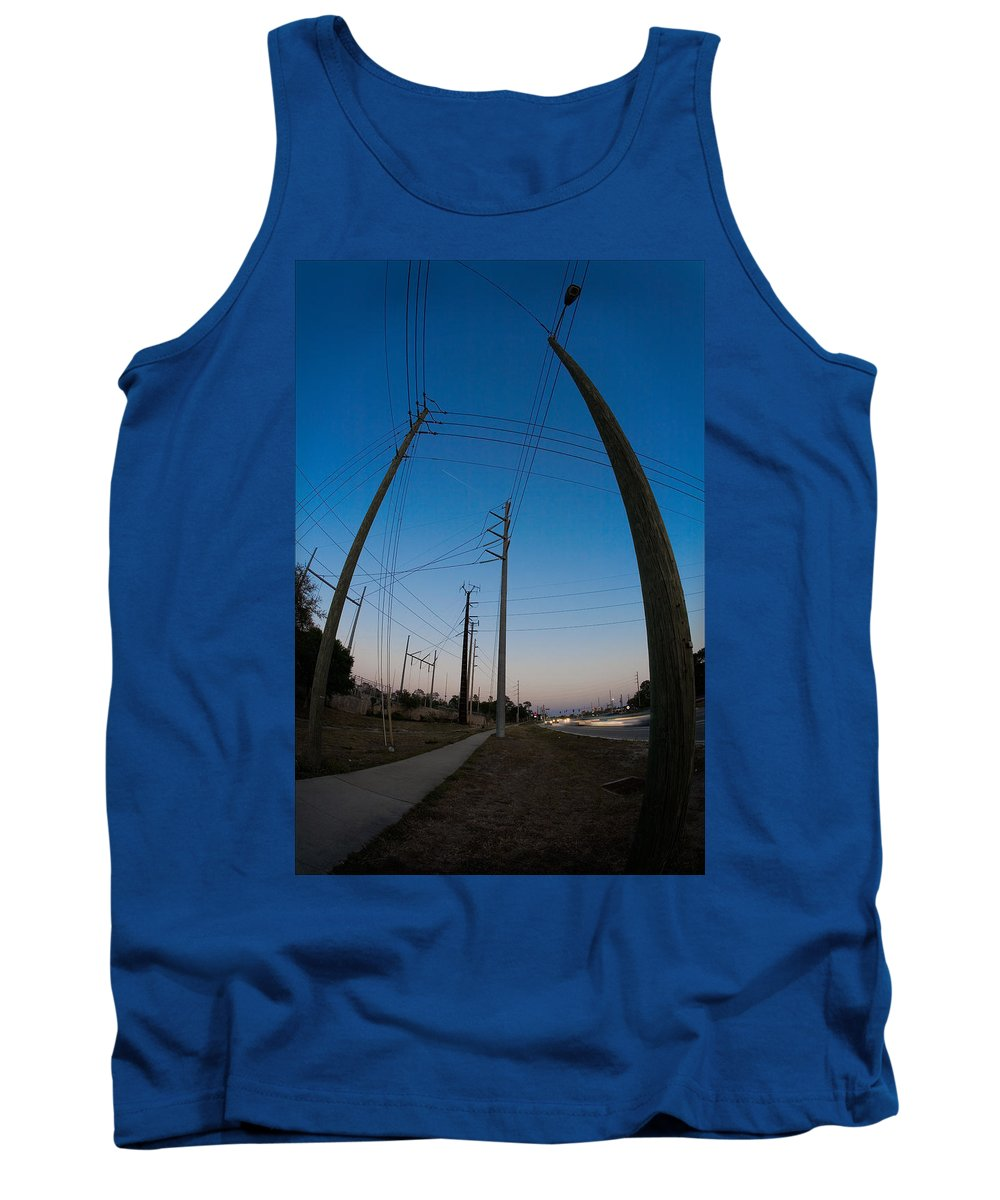 Industrial Tank Top featuring the photograph Line Drive by Steven Hlavac