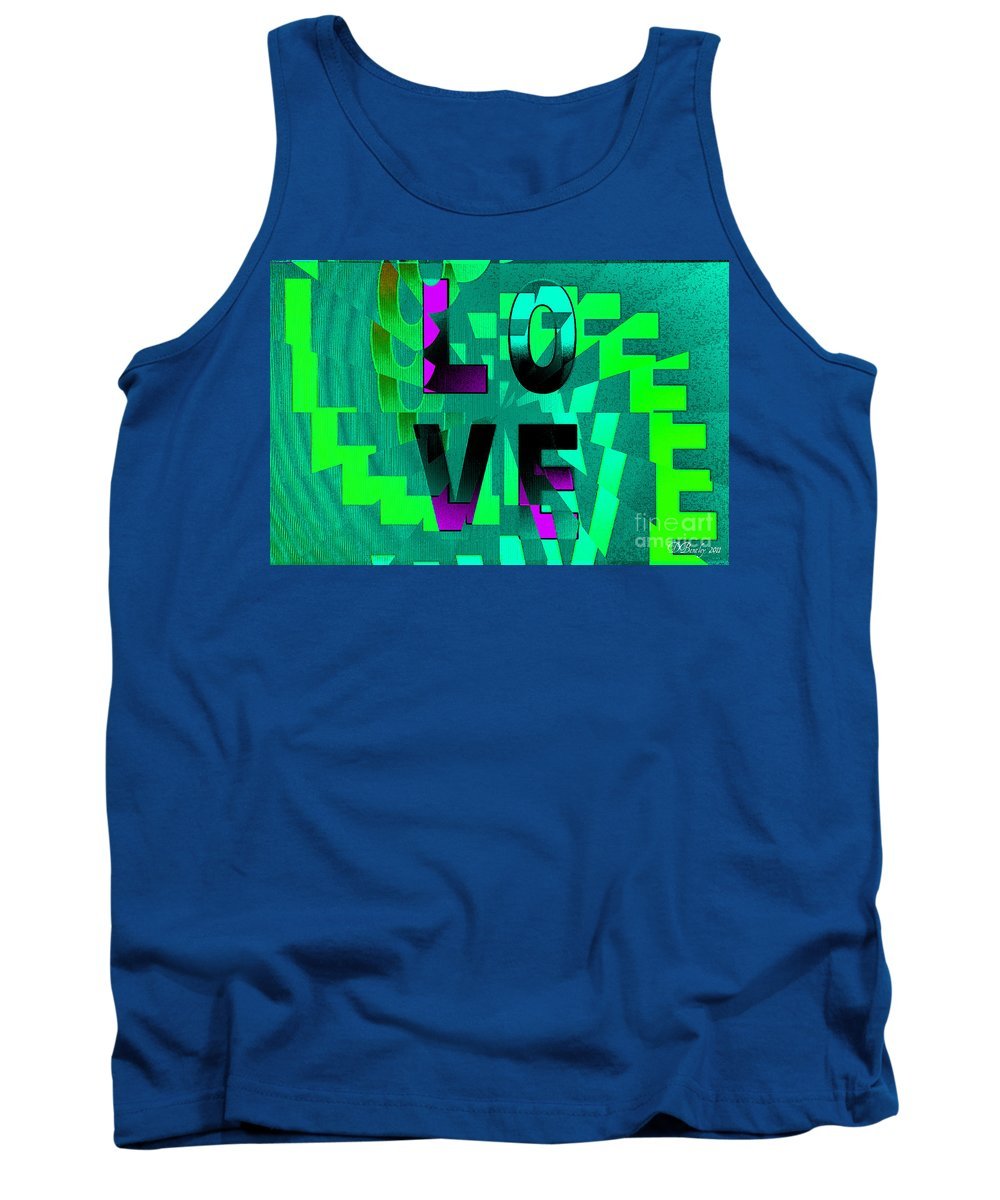 Love Tank Top featuring the digital art Lo Ve by Donna Bentley