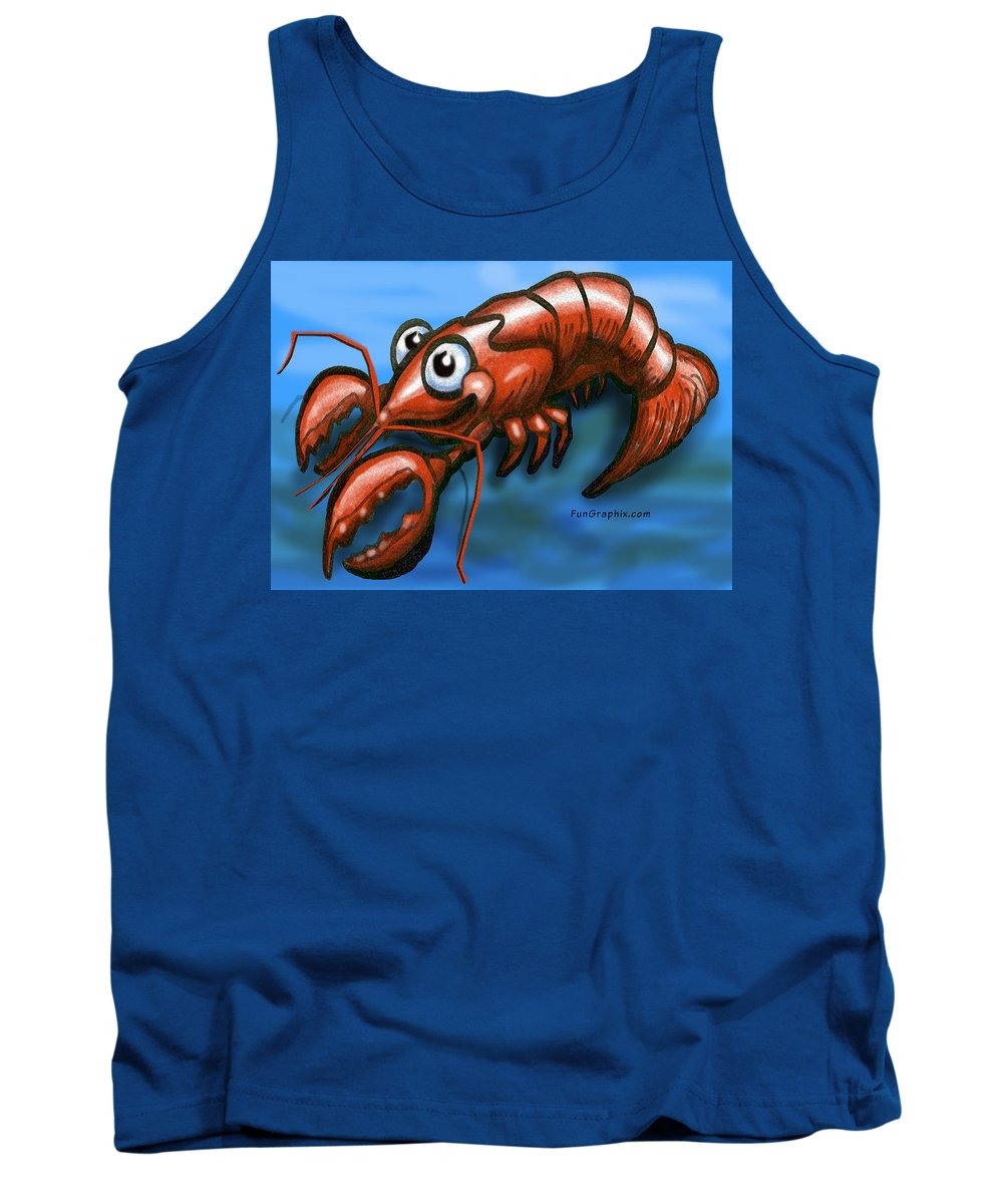 Lobster Tank Top featuring the greeting card Lobster by Kevin Middleton