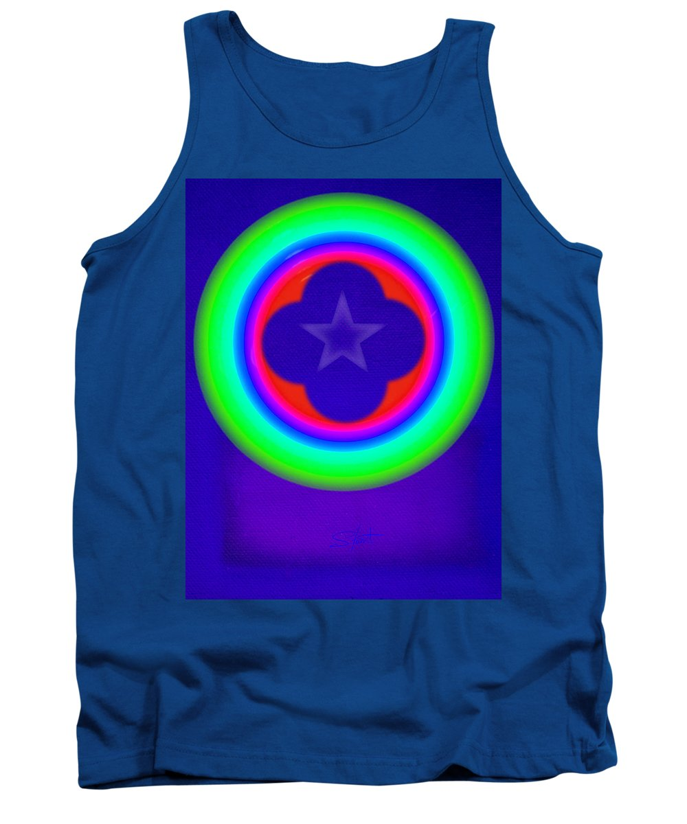 Abstract Tank Top featuring the painting Logos by Charles Stuart