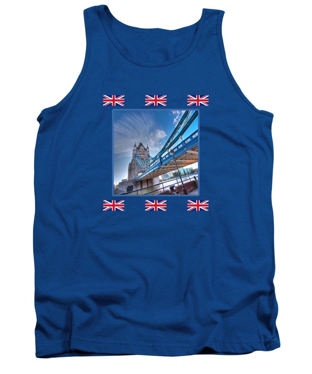 London Tank Top featuring the photograph London Landmark - Tower Bridge by Gill Billington