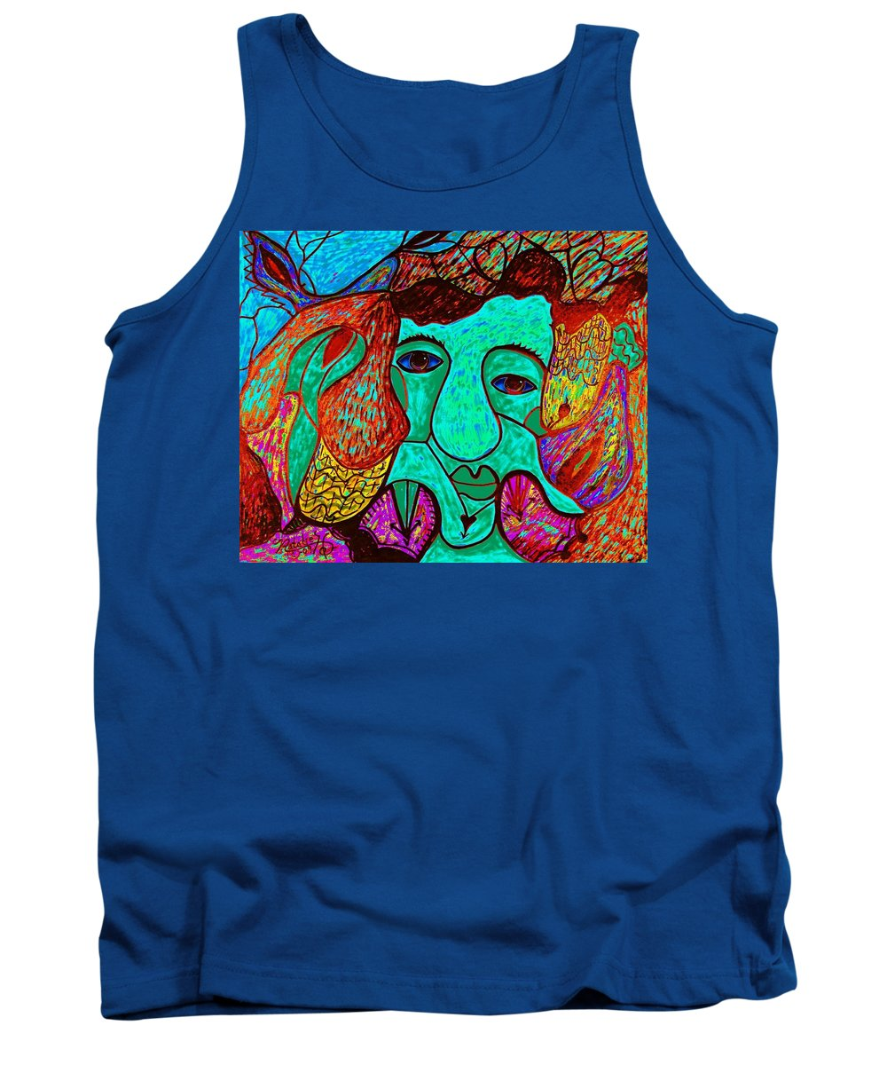 Man Tank Top featuring the painting Looking For Love by Natalie Holland
