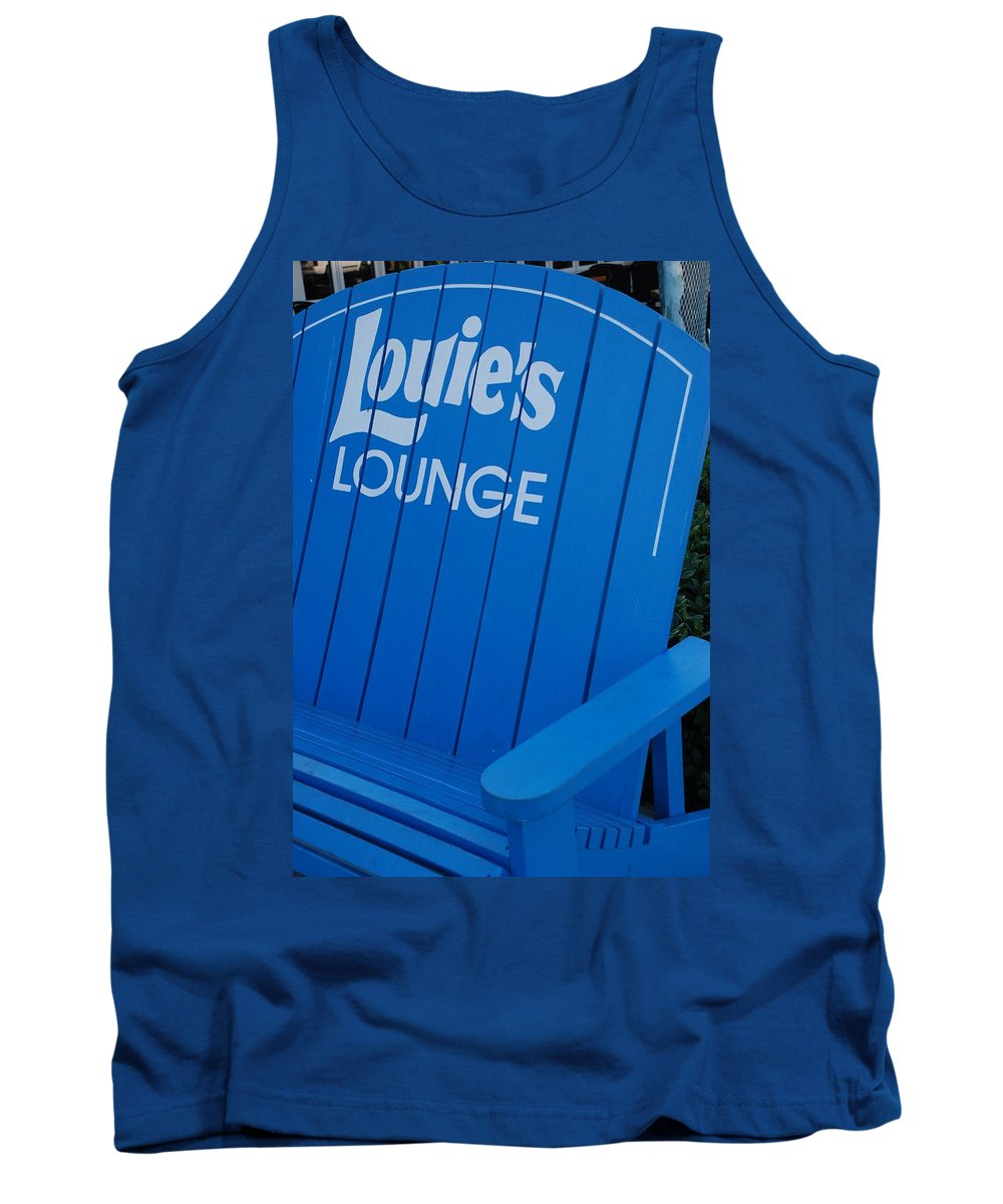 Bench Tank Top featuring the photograph Louie S Lounge by Rob Hans
