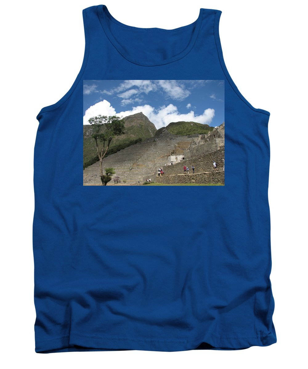Landscape Tank Top featuring the photograph Macchu Picchu 7 by Sandra Bourret