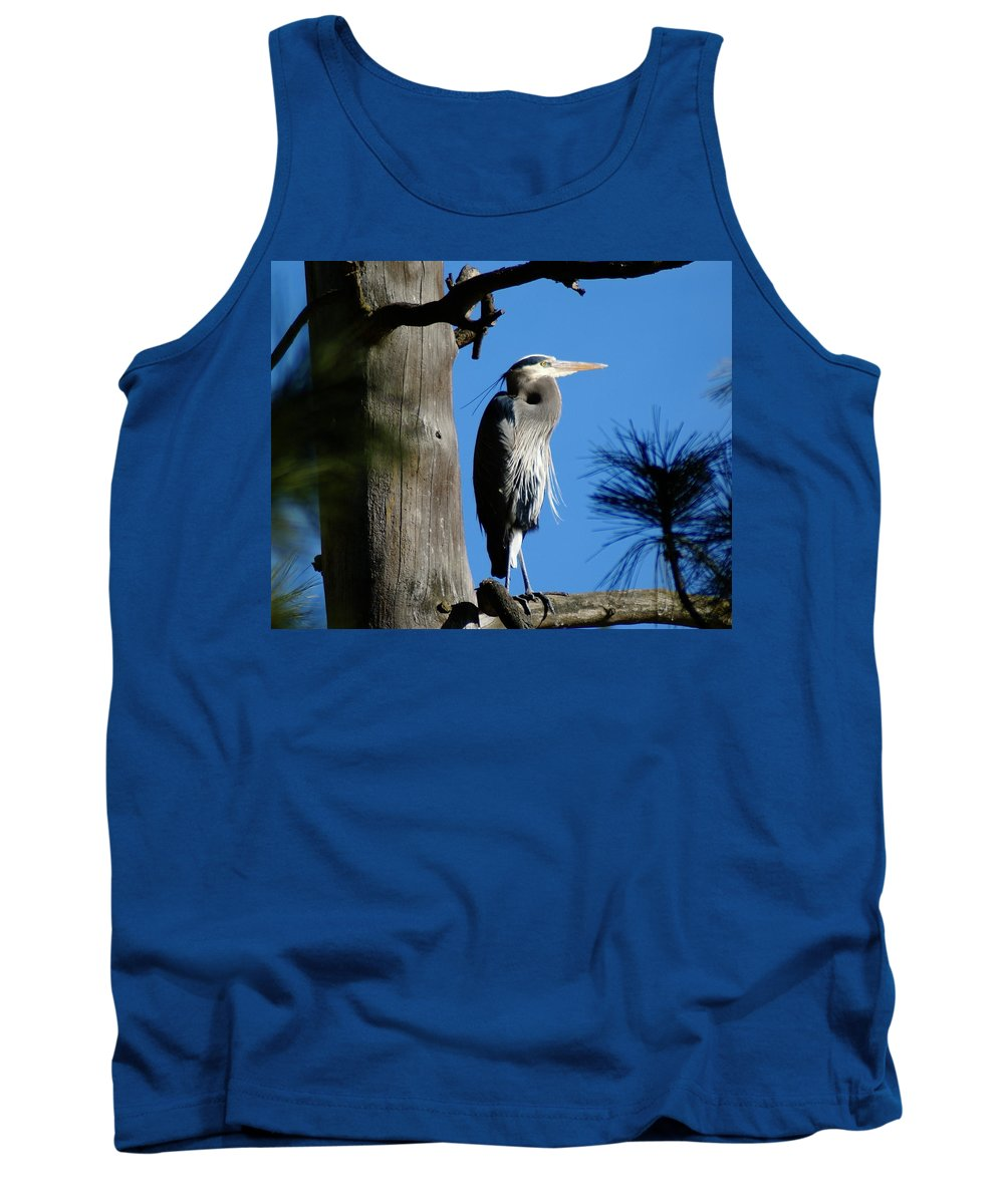 Spokane Tank Top featuring the photograph Majestic Great Blue Heron by Ben Upham III