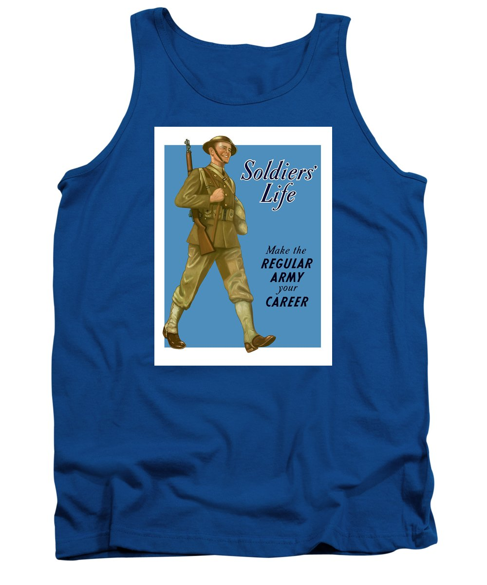Army Tank Top featuring the painting Make The Regular Army Your Career by War Is Hell Store