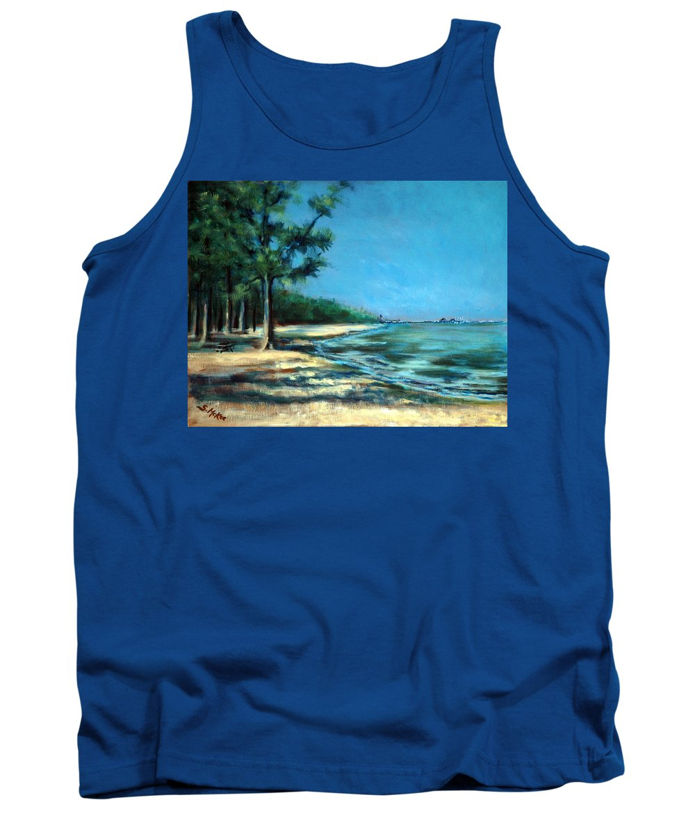 Acrylic Tank Top featuring the painting Maybe A Picnic by Suzanne McKee