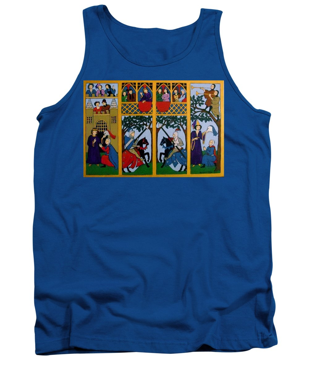 Knights Tank Top featuring the painting Medieval Scene by Stephanie Moore