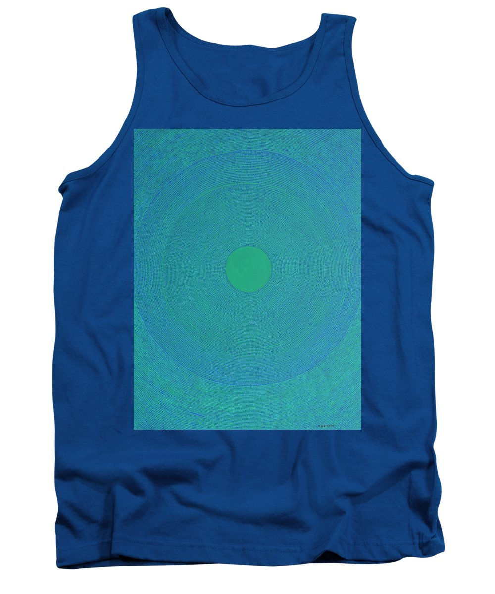 Modern Tank Top featuring the painting Meditation 2 by Kyung Hee Hogg