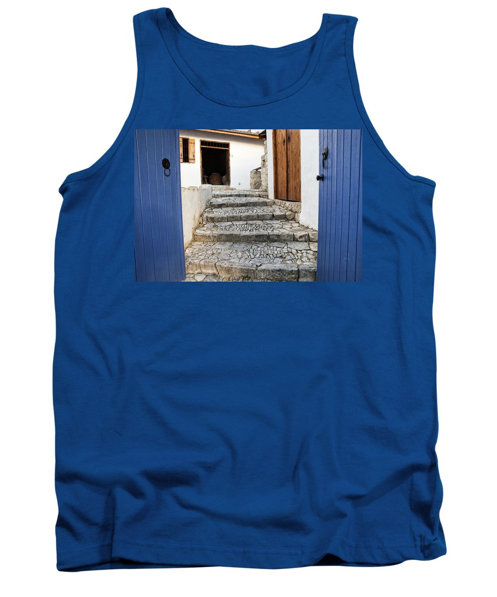 Door Tank Top featuring the photograph Mediteranean Old House by Mike Santis