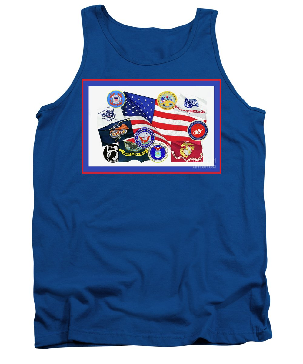 Usa Memorial Day Tank Top featuring the photograph Memorial Day Collage by Regina Geoghan