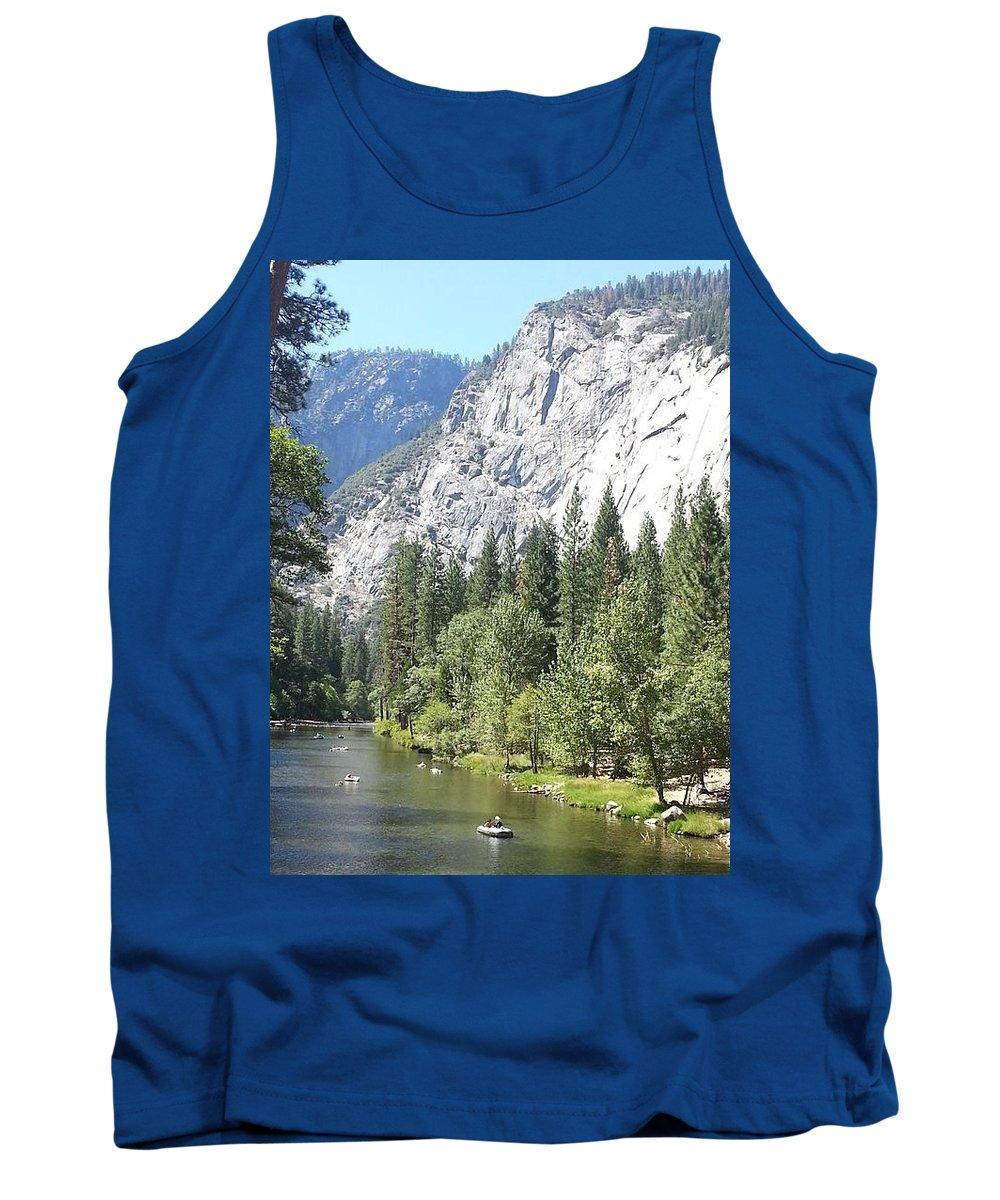 Merced River Tank Top featuring the photograph Merced River In Yosemite by Derek Ryan Jensen