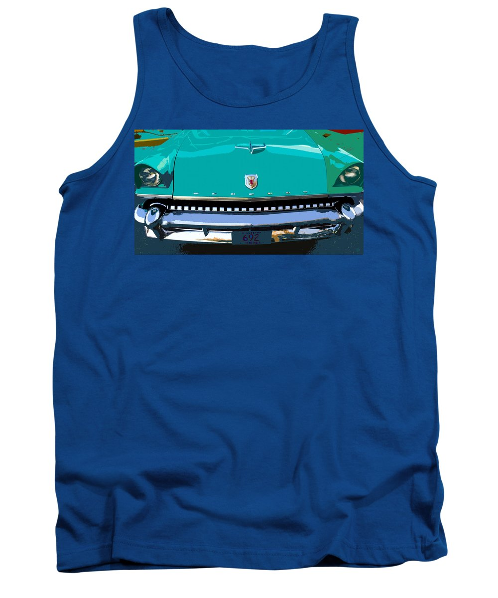 Mercury Tank Top featuring the painting Mercury In Green by David Lee Thompson