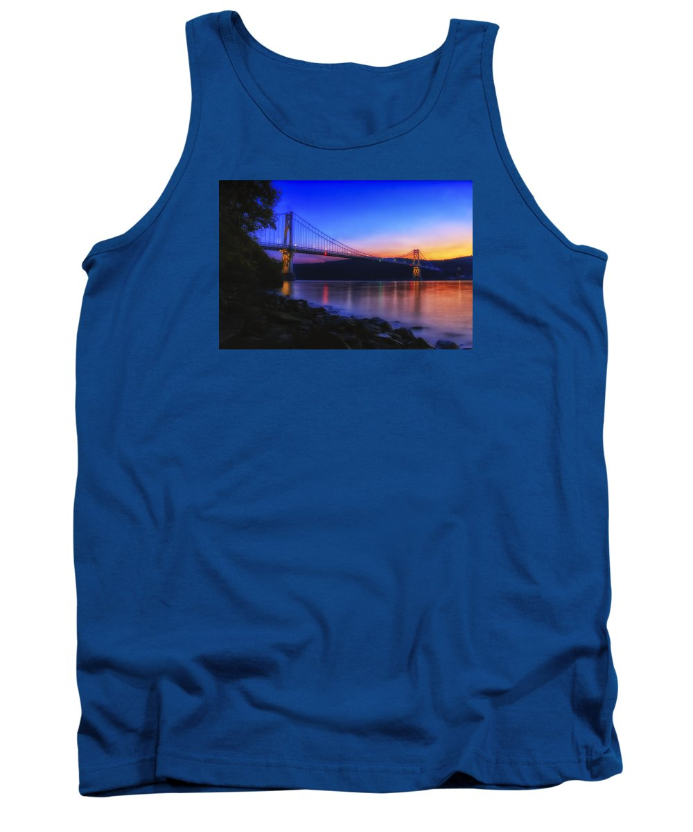 Dutchess County Tank Top featuring the photograph Mid-hudson Glow by Rachel Snydstrup