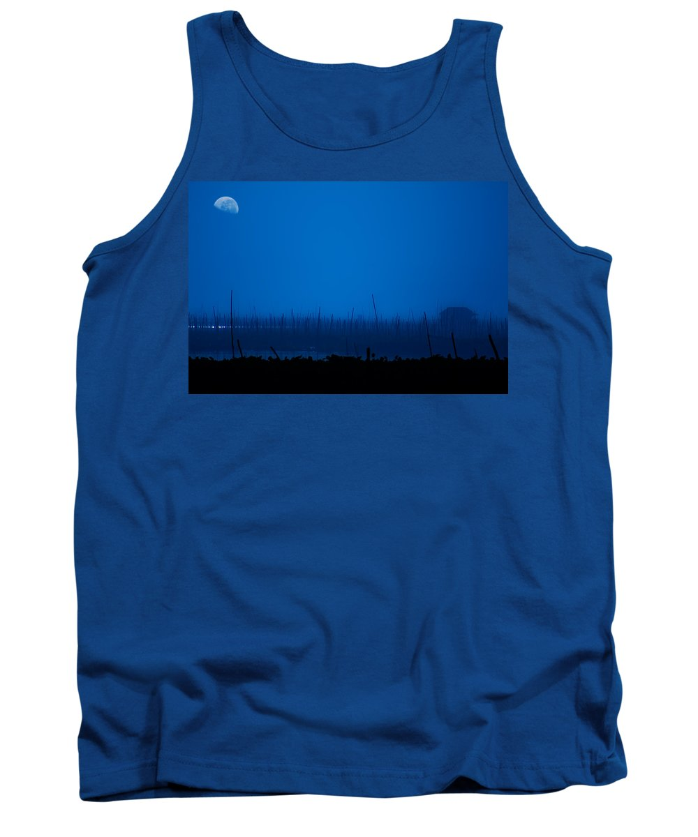 Lake Tank Top featuring the photograph Midnight Blue by George Cabig
