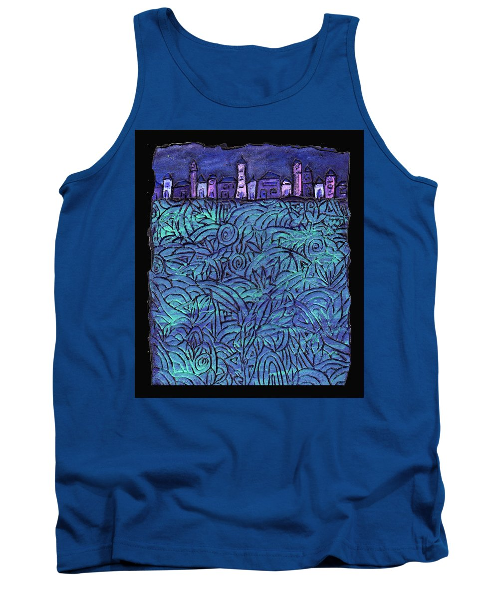 Night Tank Top featuring the painting Midnight by Wayne Potrafka