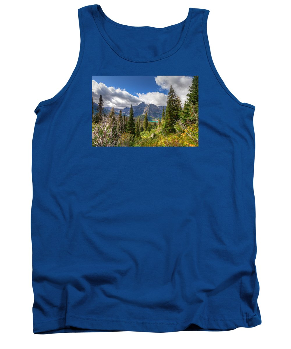 Montana Tank Top featuring the photograph Montana-glacier National Park-grinnell Glacier Trail by Arlene Waller
