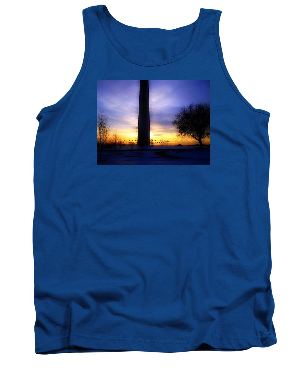 Monument Tank Top featuring the photograph Monumental Sunset by Darin Bokeno