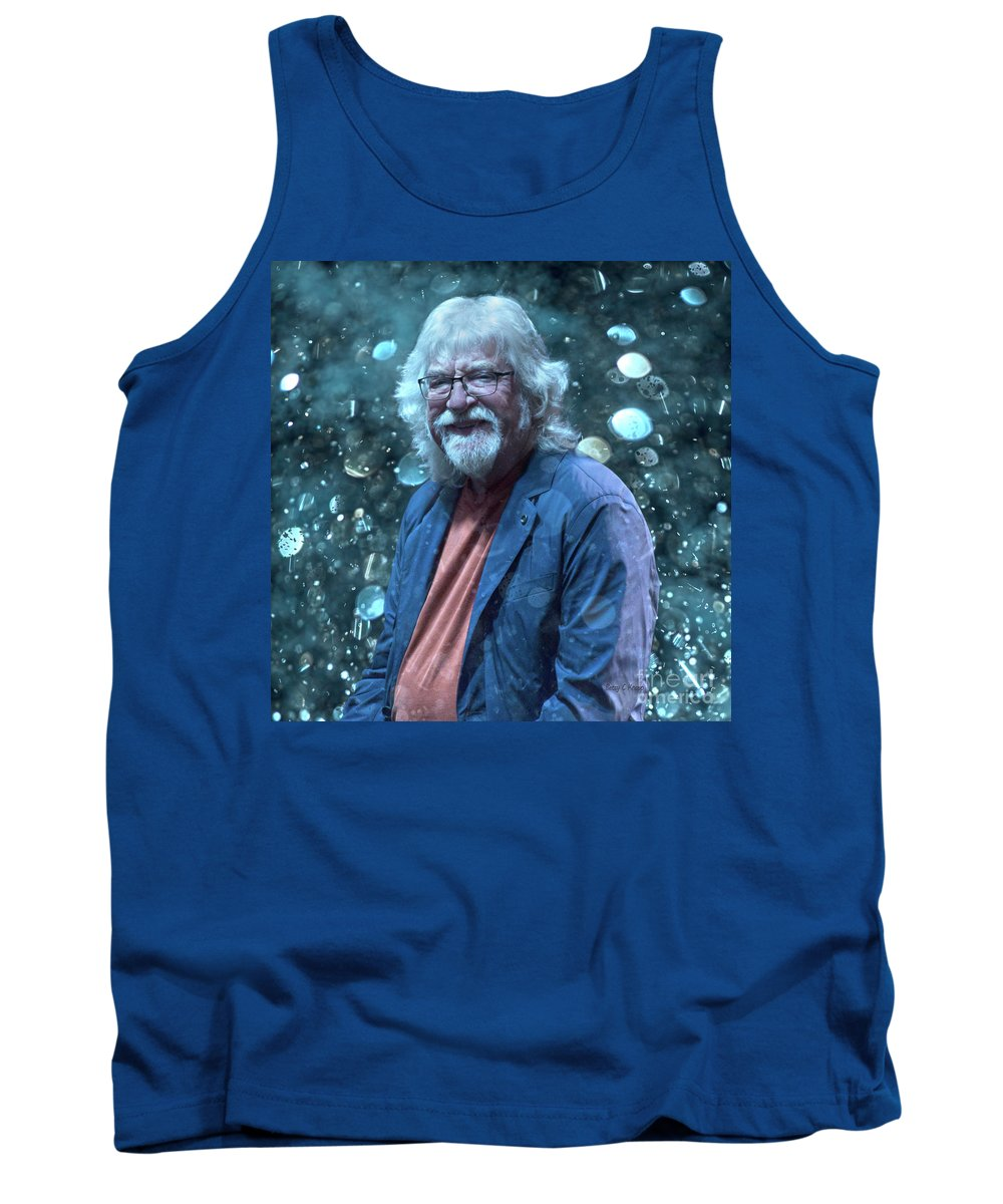 Moody Tank Top featuring the photograph Moody Blues Edge Custom Ge Mb1 by Betsy Knapp