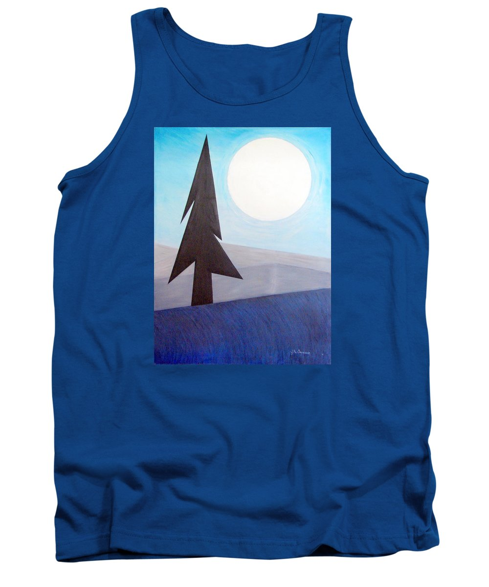 Phases Of The Moon Tank Top featuring the painting Moon Rings by J R Seymour