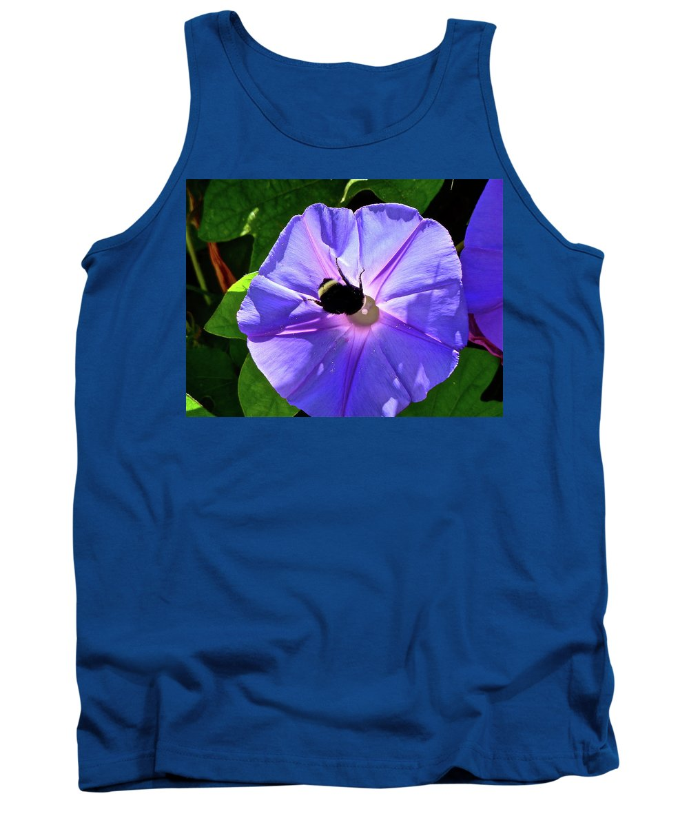 Flower Tank Top featuring the photograph Morning Glory by Diana Hatcher