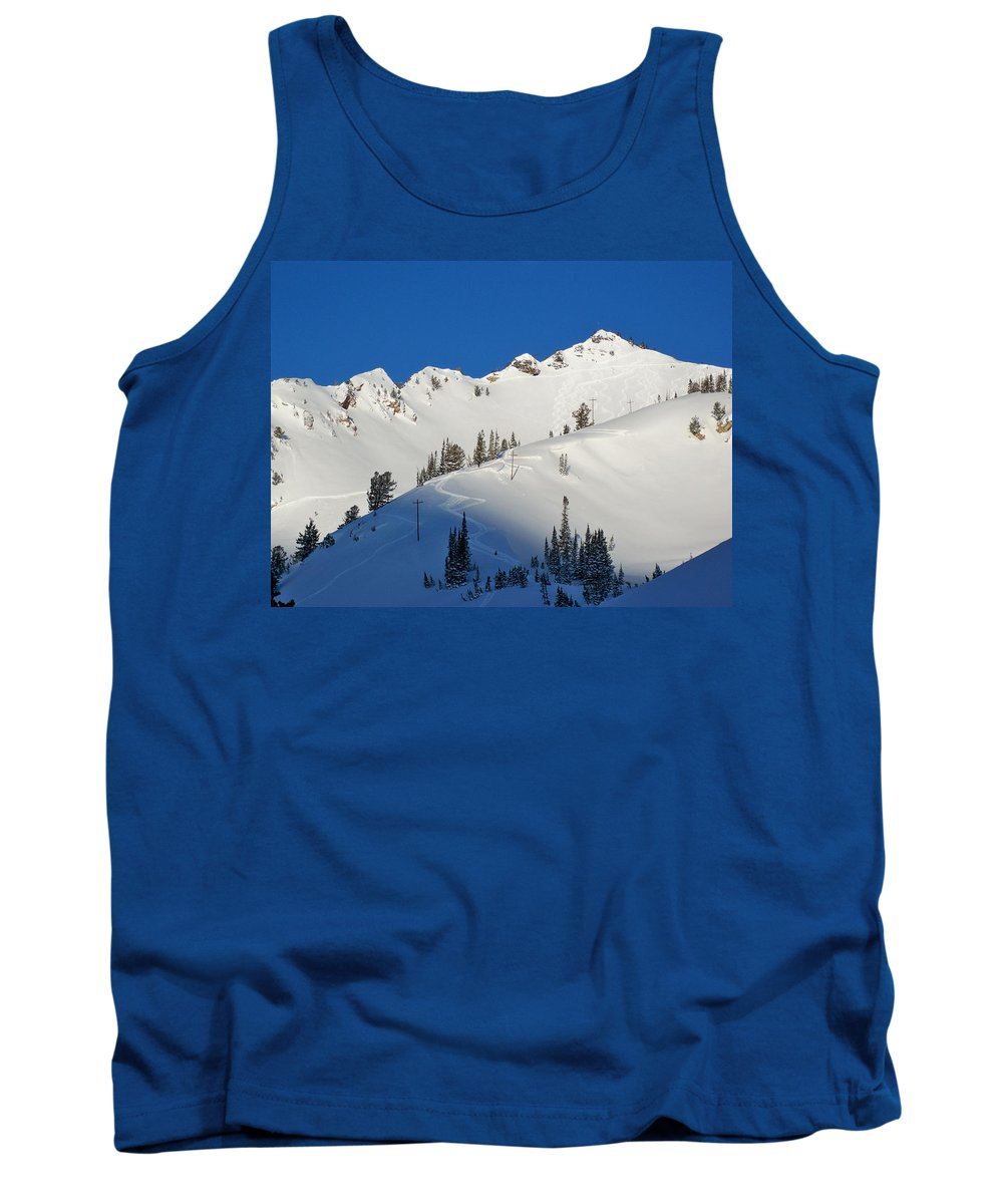 Ski Tank Top featuring the photograph Morning Pow Wow by Michael Cuozzo