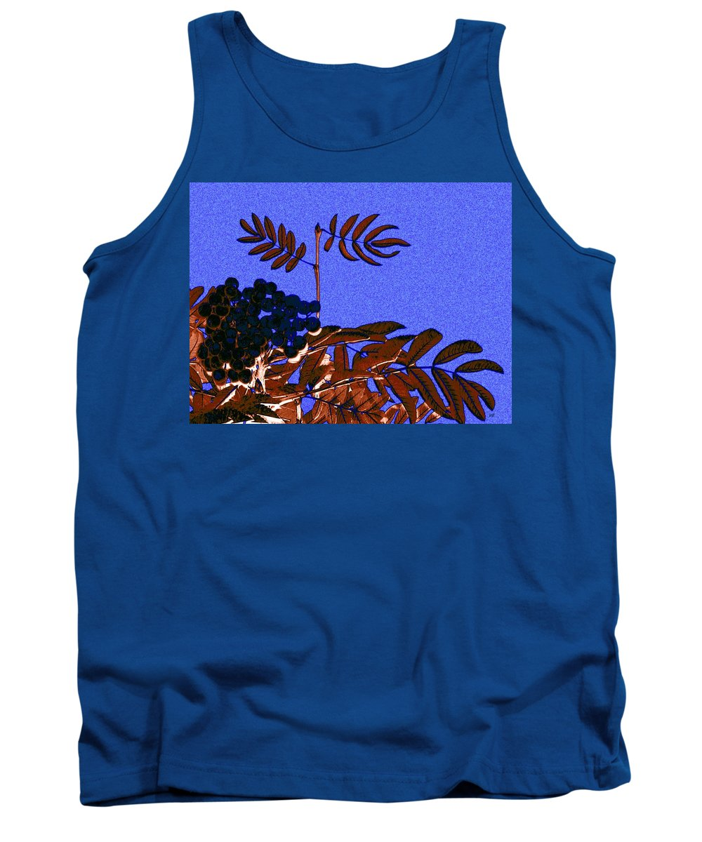 Abstract Tank Top featuring the digital art Mountain Ash Design by Will Borden