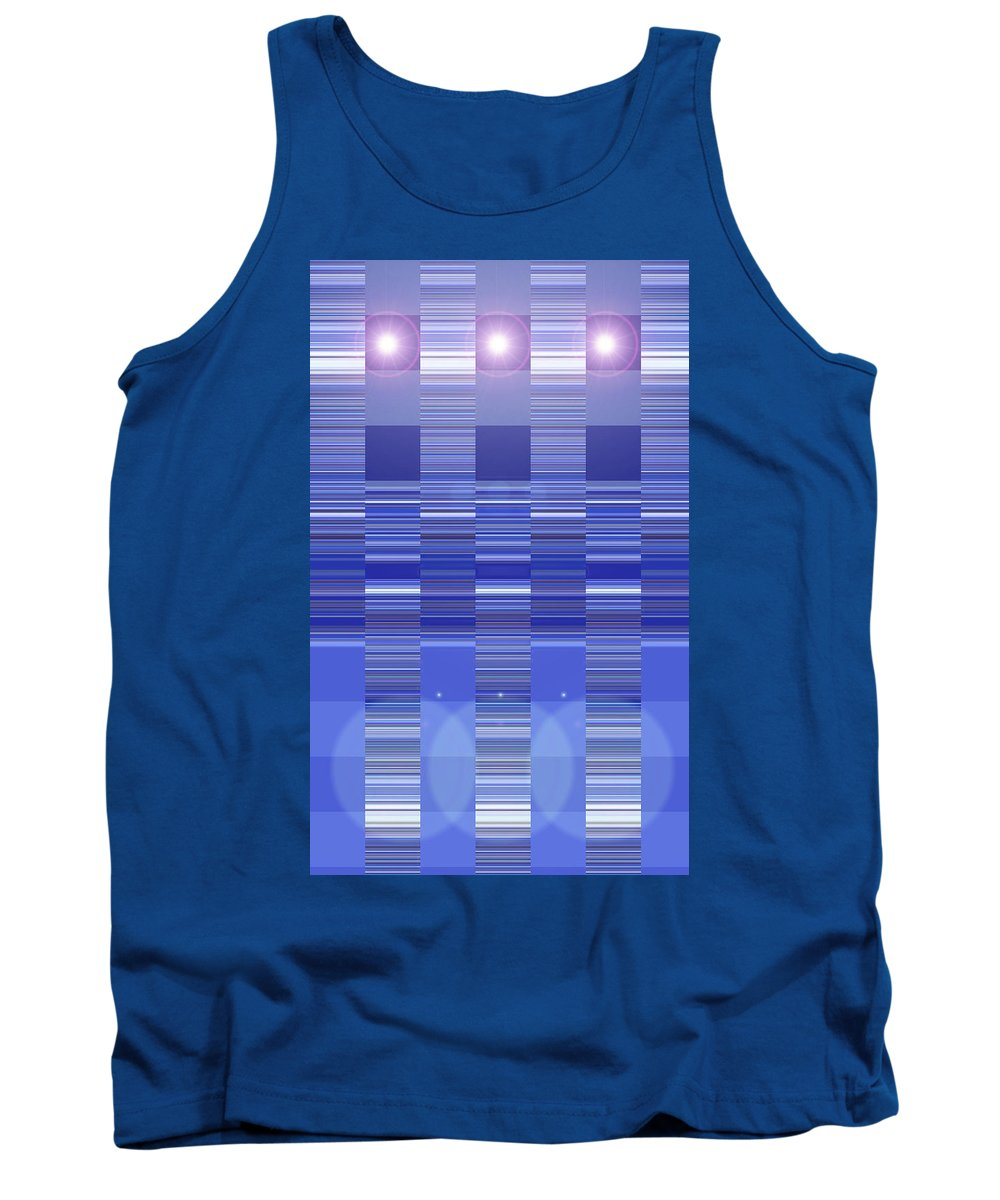 Moveonart! Digital Gallery Tank Top featuring the digital art Moveonart Blue Program One by Jacob Kanduch