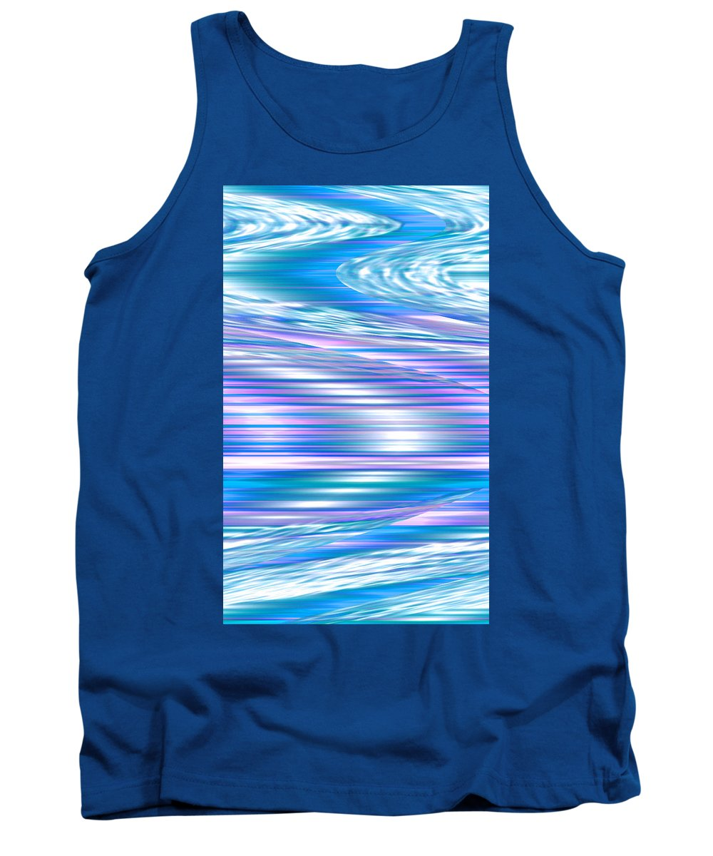 Moveonart! Digital Gallery Tank Top featuring the digital art Moveonart Longing For Waves Of Renewal by Jacob Kanduch
