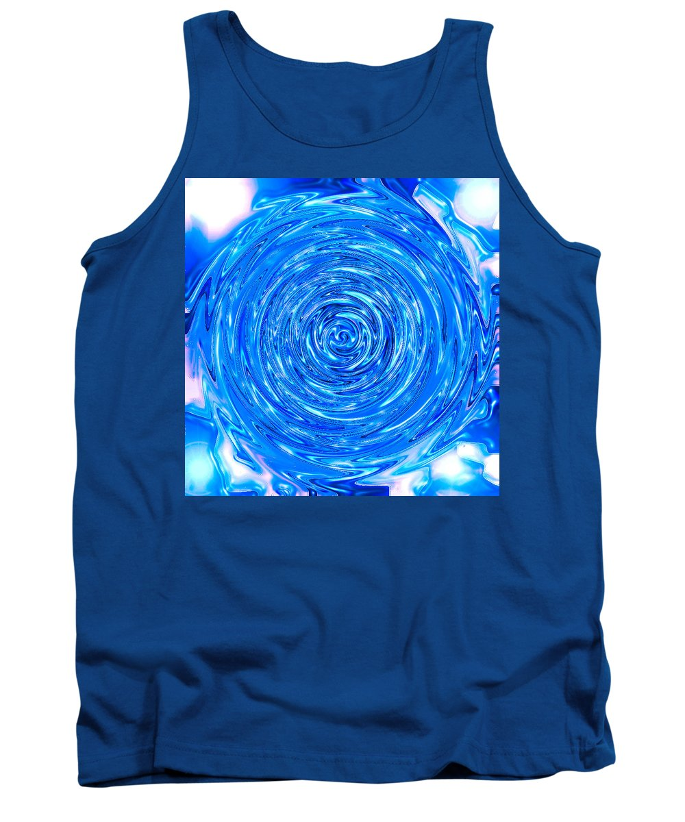 Moveonart! Digital Gallery Tank Top featuring the digital art Moveonart Peace Renewal Planet Earth by Jacob Kanduch