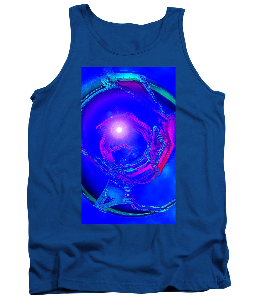 Moveonart! Digital Gallery Tank Top featuring the digital art Moveonart Telepathic People Planet Earth by Jacob Kanduch